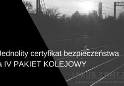 jednolity certyfikat bezpieczeństwa